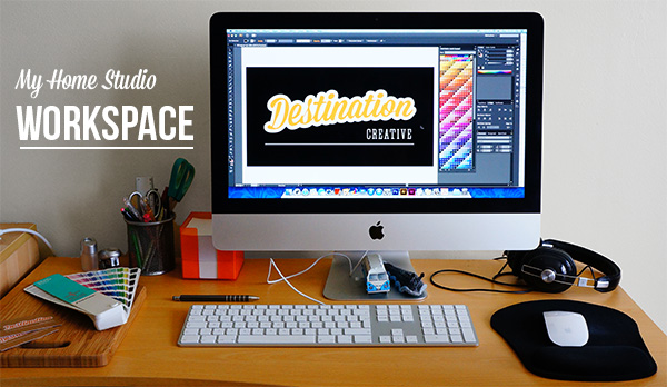 My home studio workspace - Destination Creative | Graphic ...